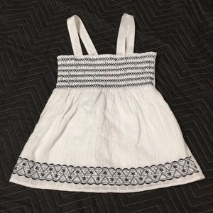 Justice smocked sparkly top